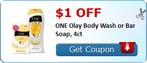 $1.00 off ONE Olay Body Wash or Bar Soap, 4ct