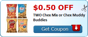 $0.50 off TWO Chex Mix or Chex Muddy Buddies
