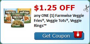 $1.25 OFF any ONE (1) Farmwise Veggie Fries®, Veggie Tots®, Veggie Rings™