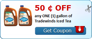 50 ¢ OFF any ONE (1) gallon of Tradewinds Iced Tea