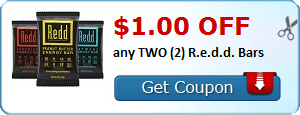 $1.00 OFF any TWO (2) R.e.d.d. Bars