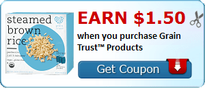 Earn $1.50 when you purchase Grain Trust™ Products