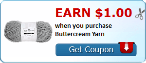Earn $1.00 when you purchase Buttercream Yarn