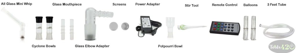Arizer Extreme Q Vaporizer Accessories