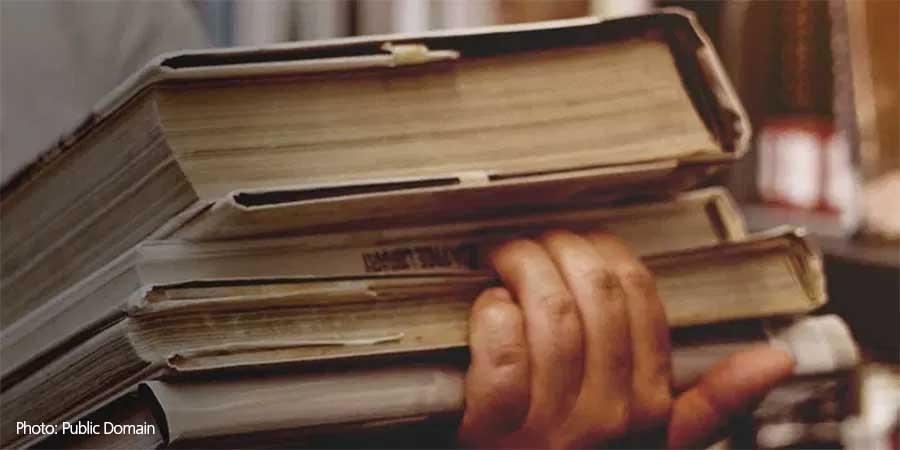 Books Hands