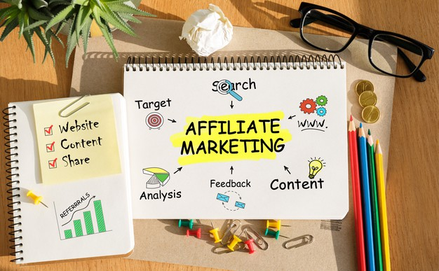 notebook with toolls notes about affiliate marketing 132358 3345