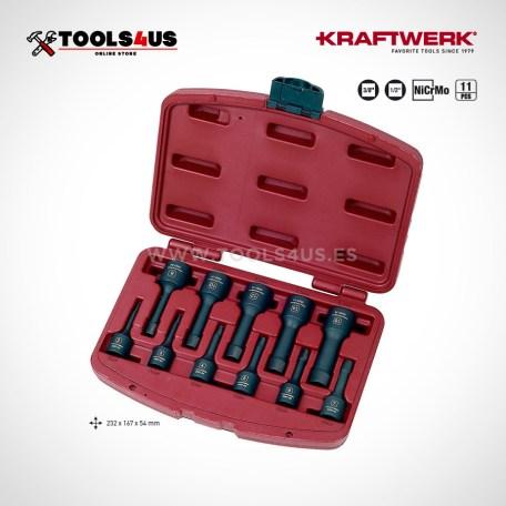 3057 KRAFTWERK Juego de extractores de tornillos profesional 01