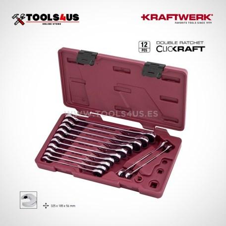3401-54 Estuche Juego llaves carraca 12 piezas clickkraft marca kraftwerk profesional taller particular herramientas calidad barcelona _01