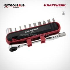 3776 Kraftwerk tools -Juego de puntas con carraca de 13piezas portable especial ideal bicicleta ideal _01