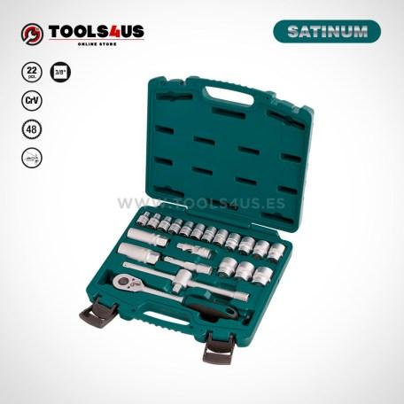 104 SATINUM maletin carraca llaves vasos puntas allen herramientas barcelona 01