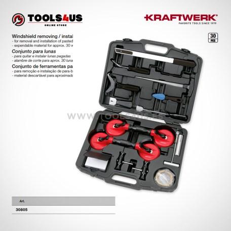 30805 KRAFTWERK herramientas taller barcelona espana Conjunto set cambio de lunas parabrisas cristales 01