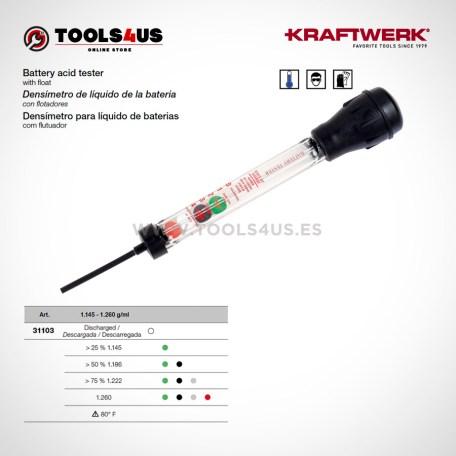 31103 KRAFTWERK herramientas taller barcelona espana Densimetro liquido bateria flotadores 01