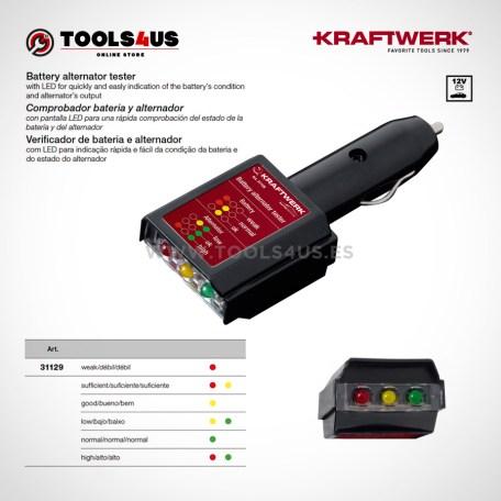 31129 KRAFTWERK herramientas taller barcelona espana Tester Comprobador bateria alternador 01