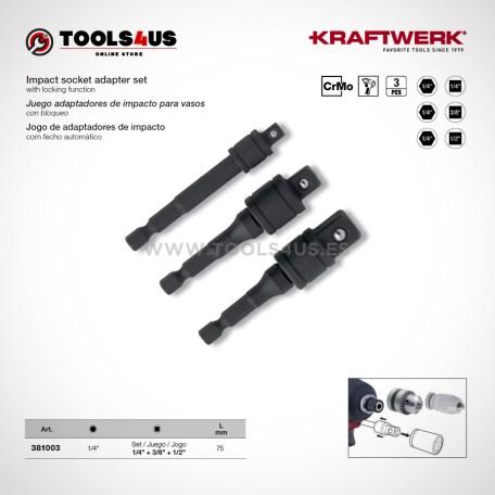 381003 KRAFTWERK herramientas taller barcelona Juego adaptadores impacto vasos
