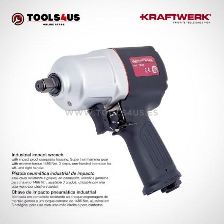 3837 KRAFTWERK herramientas taller barcelona españa Pistola industrial neumática de impacto _01