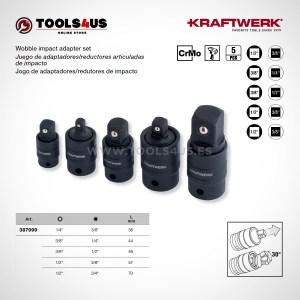 387999 KRAFTWERK herramientas taller barcelona Jueg adaptadores reductores de impacto articulados con bloqueo