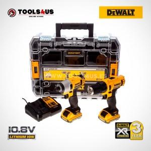 OFERTA DCK211D2T-QW DEWALT KIT taladro atornillador + atornillador impacto + maletin organizador 10.8v herramientas profesionales _02