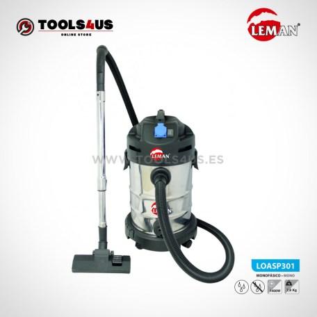 LOASP301 Aspirador de Polvo y Agua 30L 1400W Leman 01