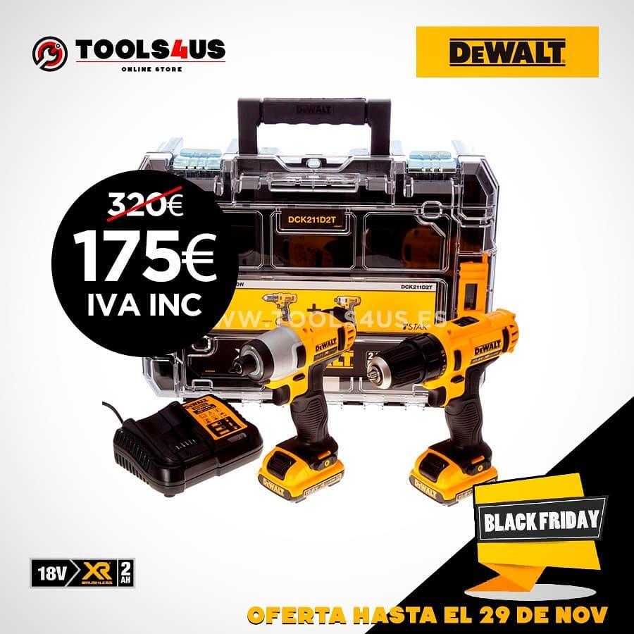 kit taladro atornillador de - Kit taladro + atornillador de impacto a batería #dewalt #herramientas #blackfriday 175€ ???????