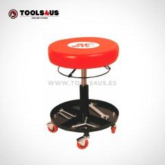 Taburete banqueta con ruedas regulable taller
