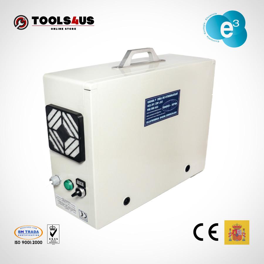 equipo generador ozono portatil oficinas naves desinfectante ambientes aire hoteles locales vehiculos 2000mg 01 - Generador de Ozono Portatil 2000mg