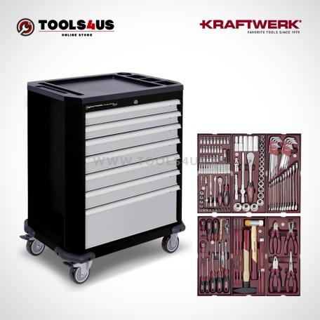 Carro herramientas taller profesional equipado kraftwerk p207 con 150 piezas 102230505 01