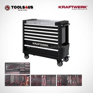 3935ng 4940 kraftwerk edicion especial carro taller profesional 7 cajones largo negro equpiado con herramientas 01