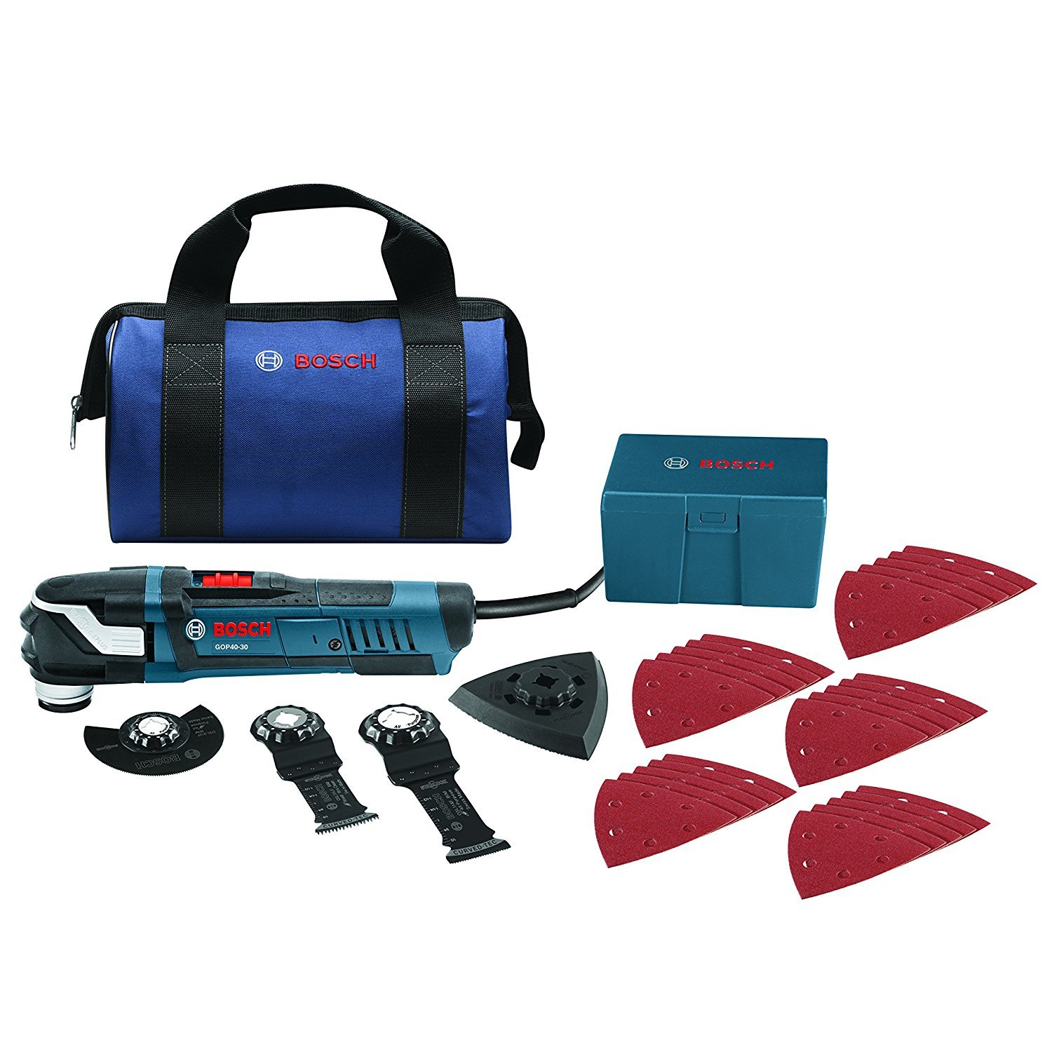 Bosch GOP40-30B StarlockPlus Oscillating Multi-Tool Kit with Snap-In Blade Attachment