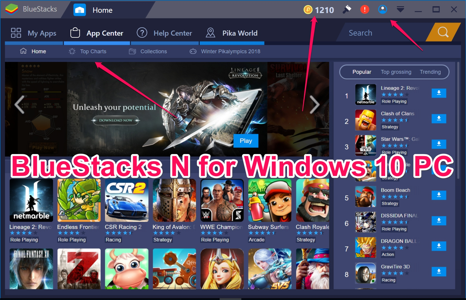 Download Latest BlueStacks N 2018 for PC Windows 10