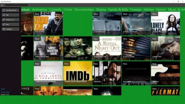 Free Instant Movies for Windows 10