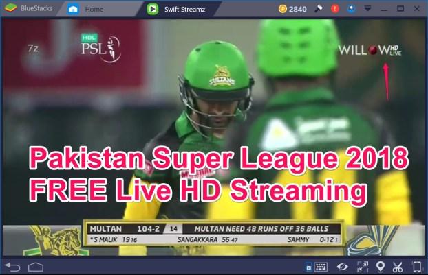 PSL 3 (208) matches live free