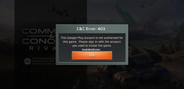 C&C Rivals Error 403 download
