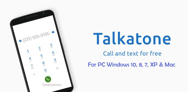 Talkatone for PC Windows 10