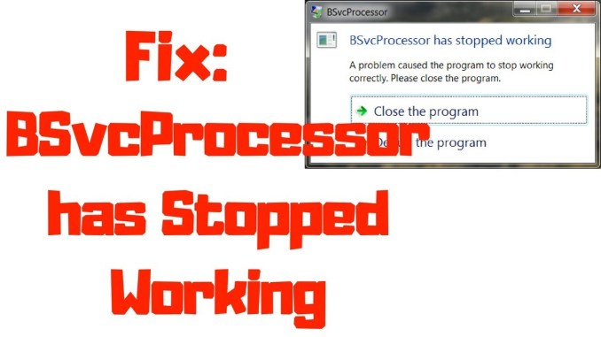 Fix BSvcProcessor is stopped