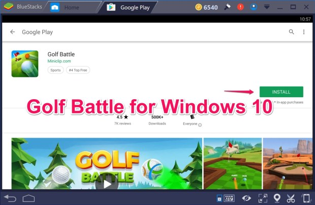 Golf Battles for Windows 10 PC