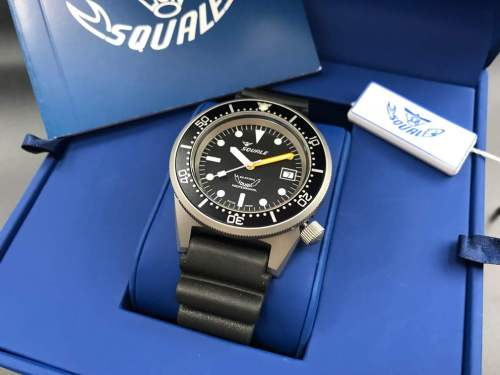 Squale 1521 black blasted watch
