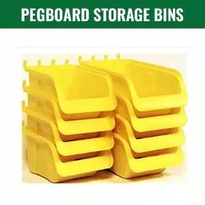 Pegboard Storage Bins