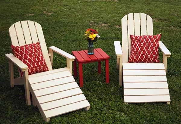 DIY Five Piece Outdoor Adirondack Furniture Set