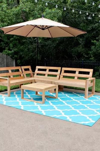 DIY Outdoor Sectional