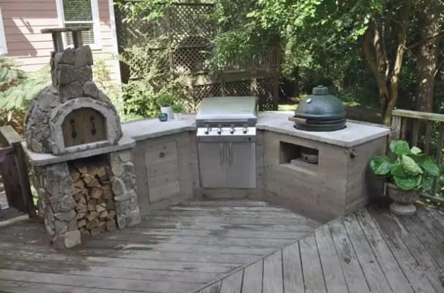 DIY Outdoor Kitchen on a Deck