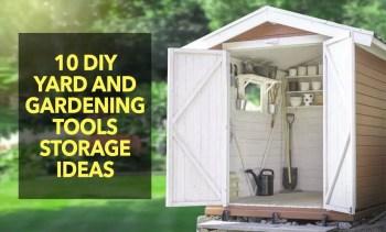 Yard And Gardening Tool Storage Ideas