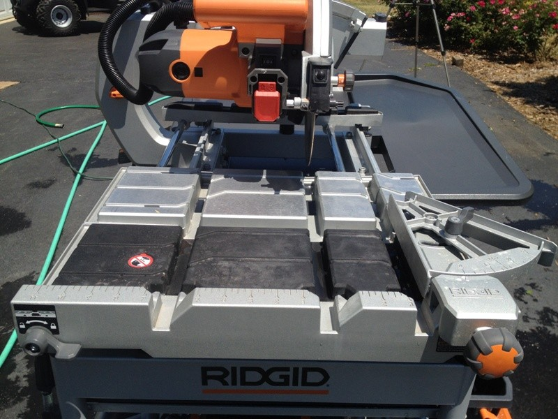 ridgid tile saw 18 tools in action