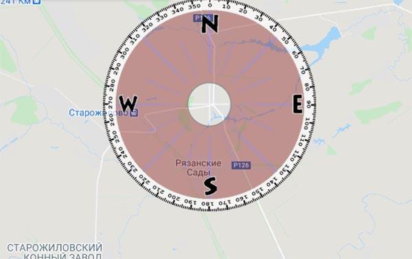 Карта компас