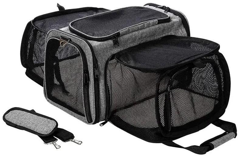 Expandable portable cat carriers