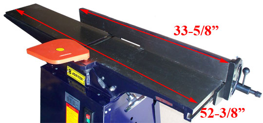 "Details about 8"" x 52"" Wood Planer Jointer Joiner 2HP @ 4600 RPM"