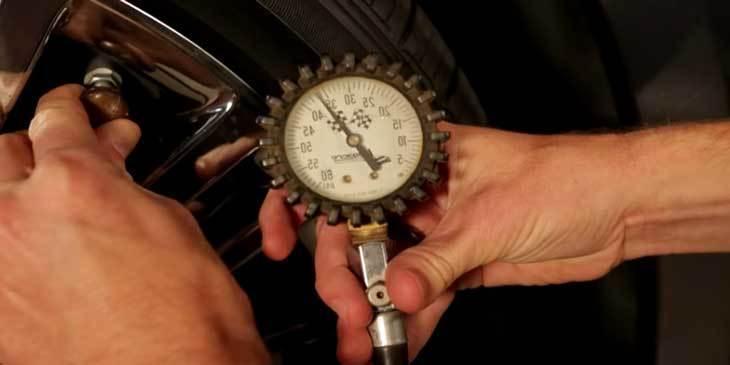 Measure The Tire Pressure