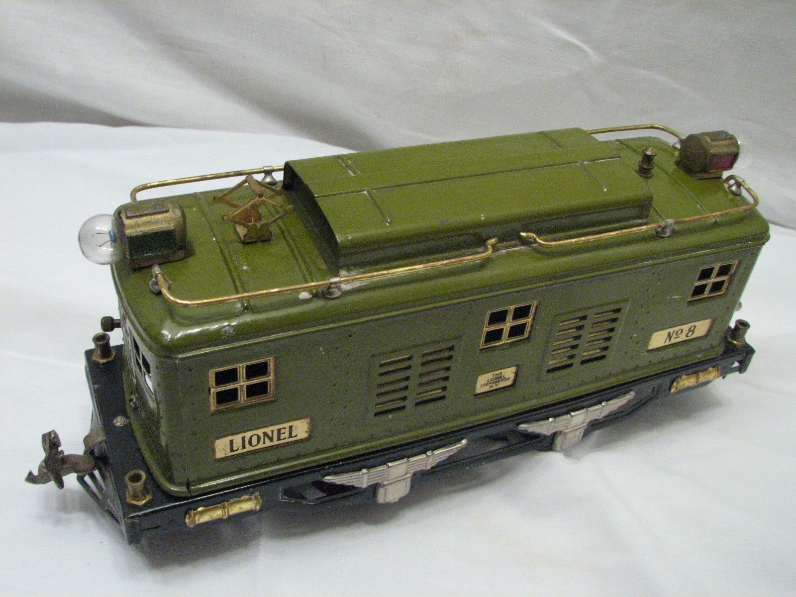 Set Lionel Pre War No 8 Train Engine W Pullman 337 Passenger 338 Observation Car
