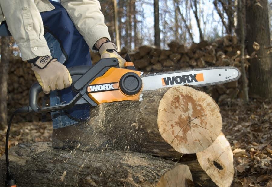 WORX WG303.1 16-Inch Chain Saw, 3.5 HP 14.5 Amp