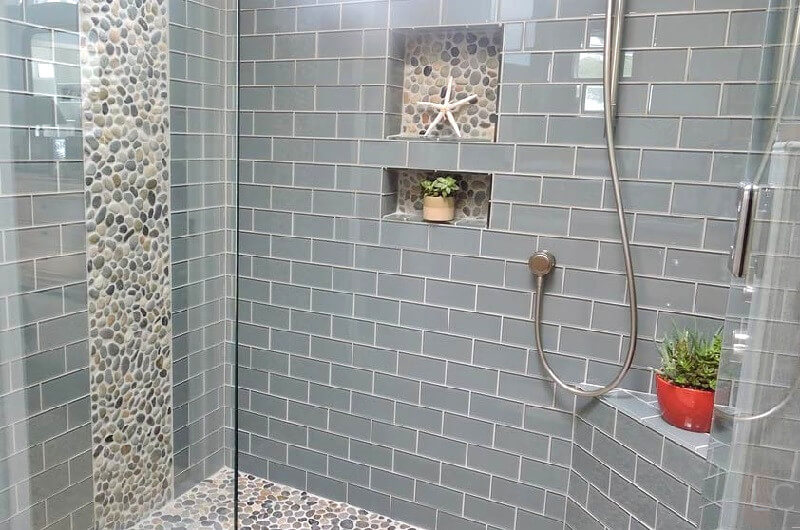 regrouting shower tiles