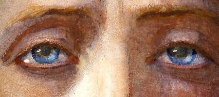 Kristuse silmad Köleri altarimaalilt Kaarli kirikus